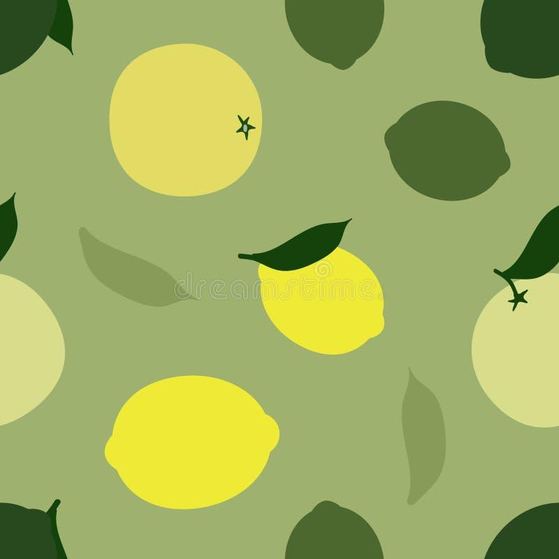 柠檬、石灰和葡萄柚 向量例证