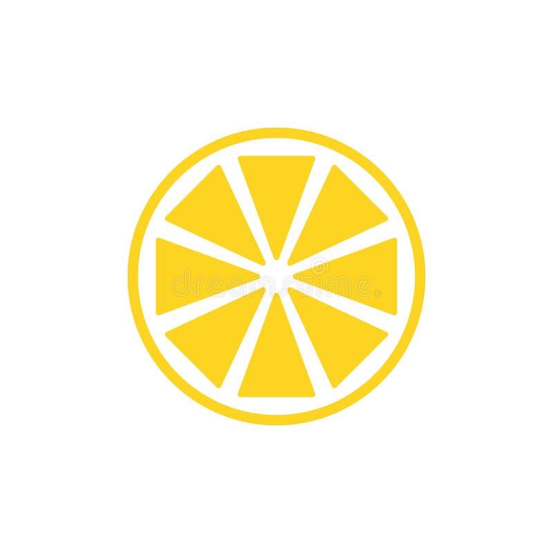 柠檬切片传染媒介在白色背景的象例证 新酸传染媒介柠檬象 向量例证
