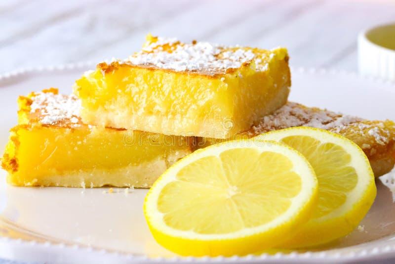 柠檬切片和柠檬酒吧 免版税库存照片