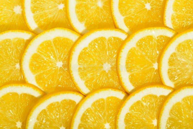 柠檬切片瓦片 库存图片