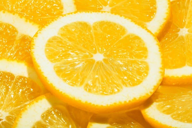 柠檬切片 免版税库存图片