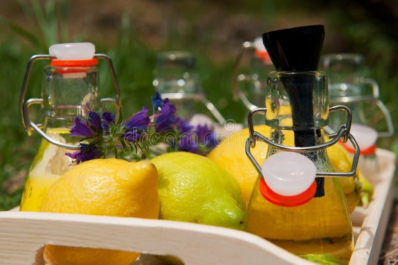 柠檬柠檬水做 库存照片