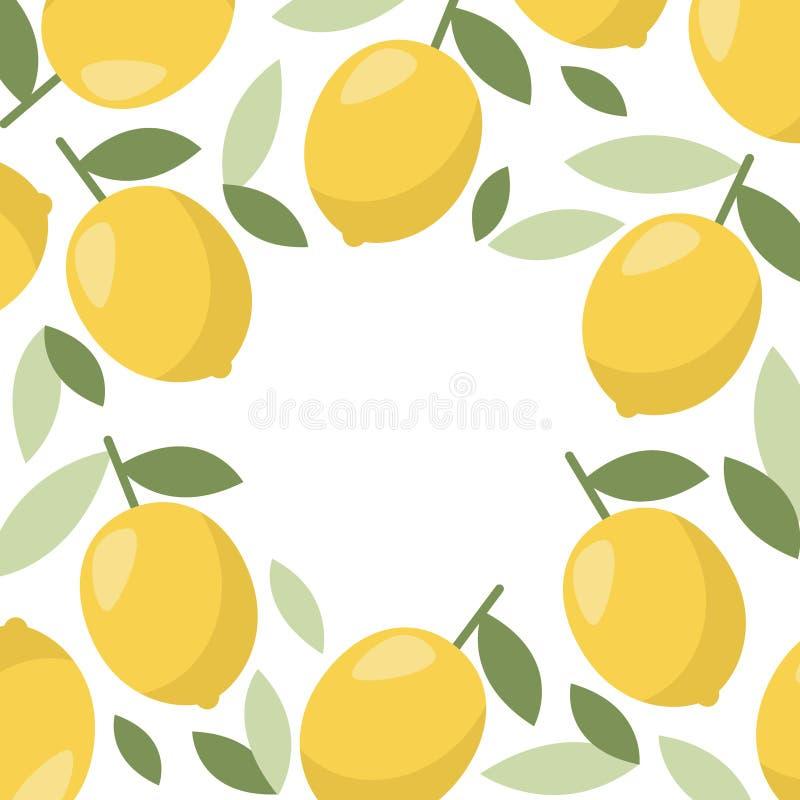 柠檬框架,网的,印刷品了不起的设计 r 柑橘柠檬水 库存例证