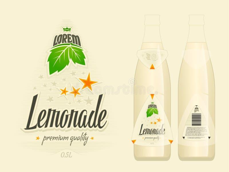 柠檬水标签传染媒介例证 库存例证