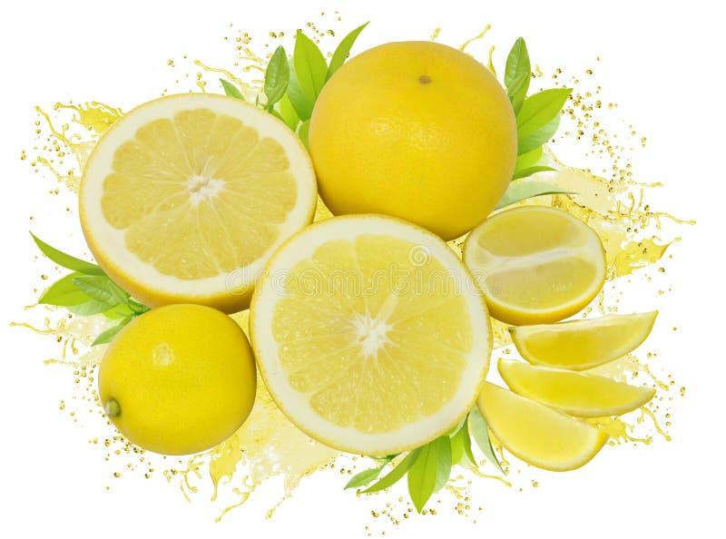柠檬水飞溅 库存图片