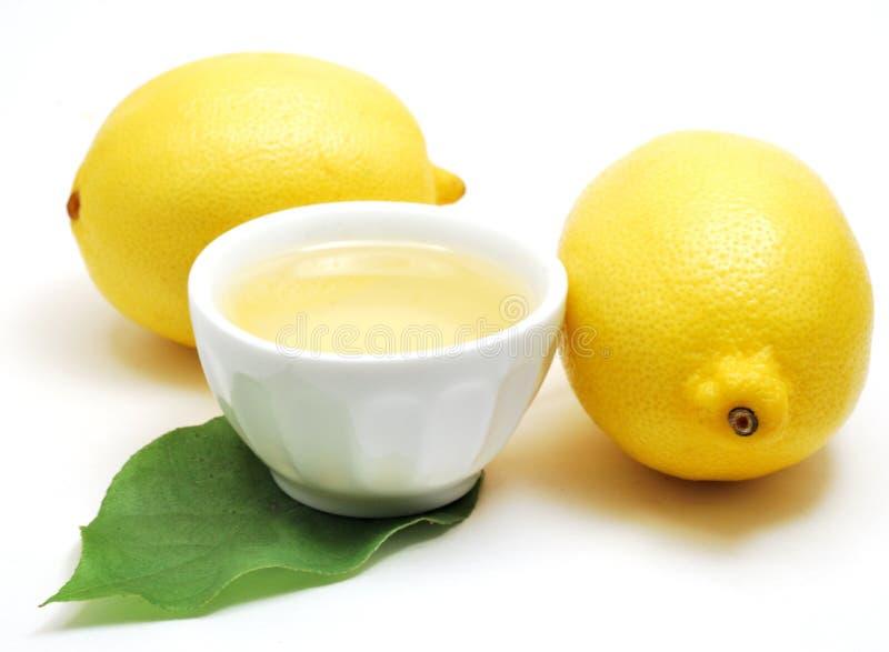 柠檬油 库存图片