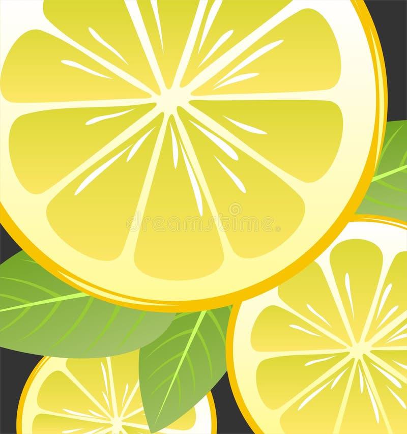 柠檬片式 向量例证
