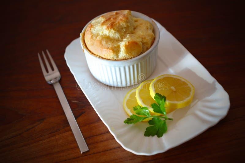柠檬片式souffl 库存图片