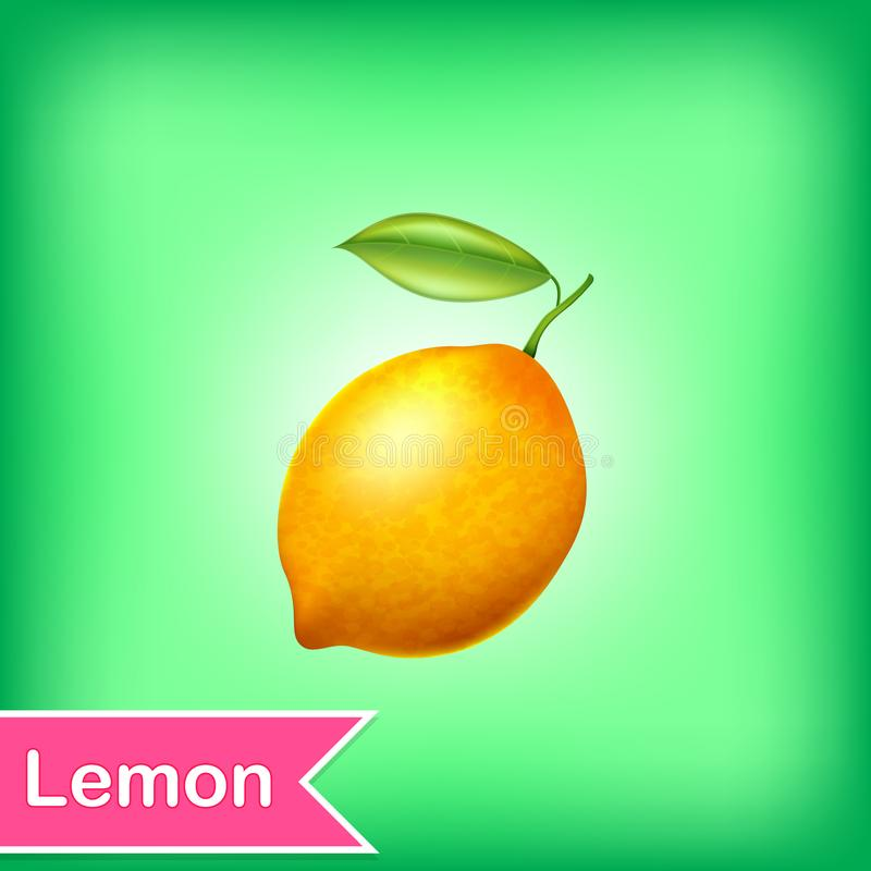 柠檬的传染媒介例证 向量例证