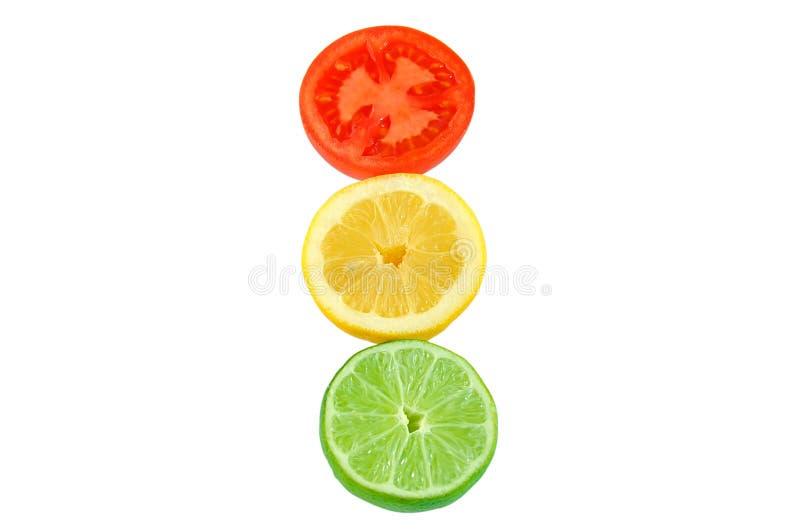 柠檬石灰切蕃茄 免版税库存图片