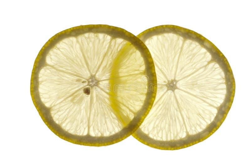 柠檬稀薄切 库存照片