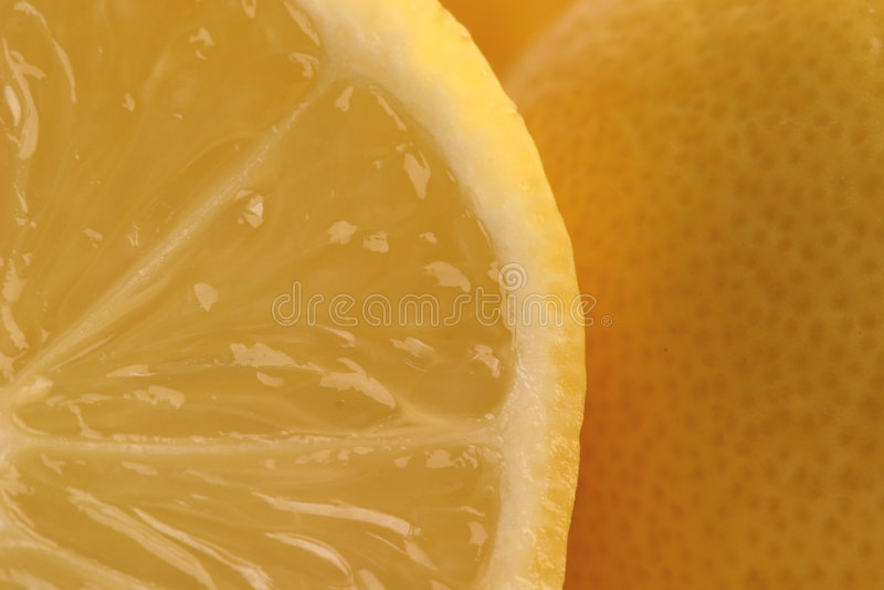 柠檬细分市场 免版税库存照片