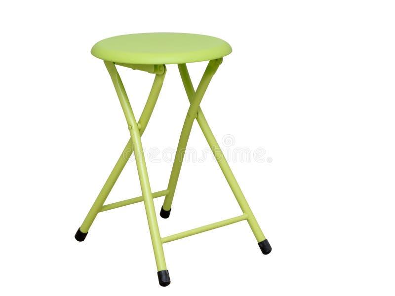 柠檬绿折叠的凳子 库存图片