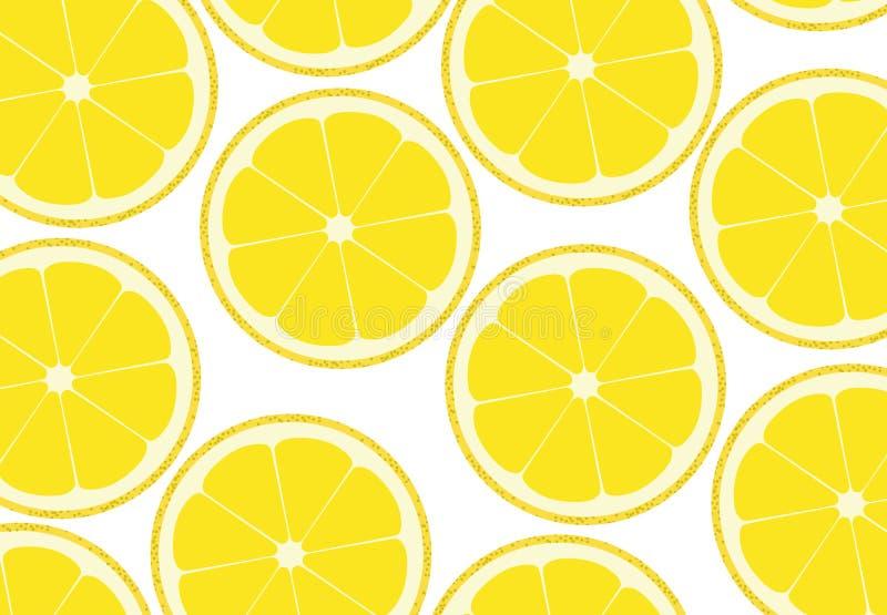 柠檬背景 向量例证