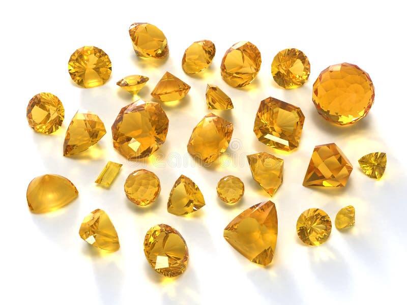 柠檬色宝石 向量例证