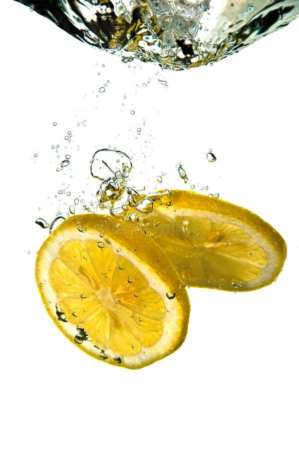 柠檬飞溅 免版税库存图片