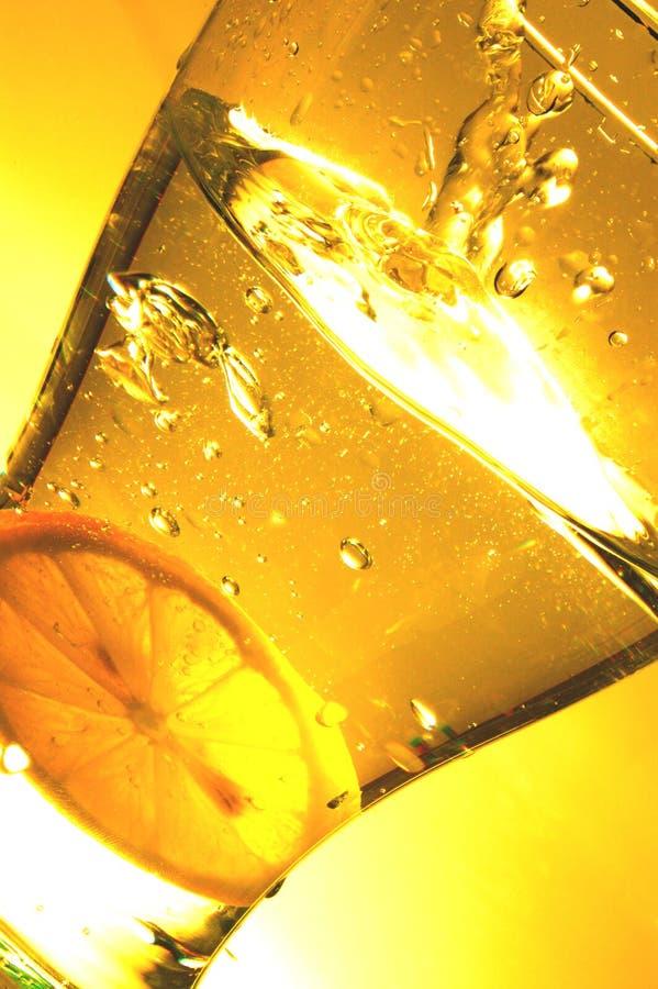 柠檬飞溅 库存图片
