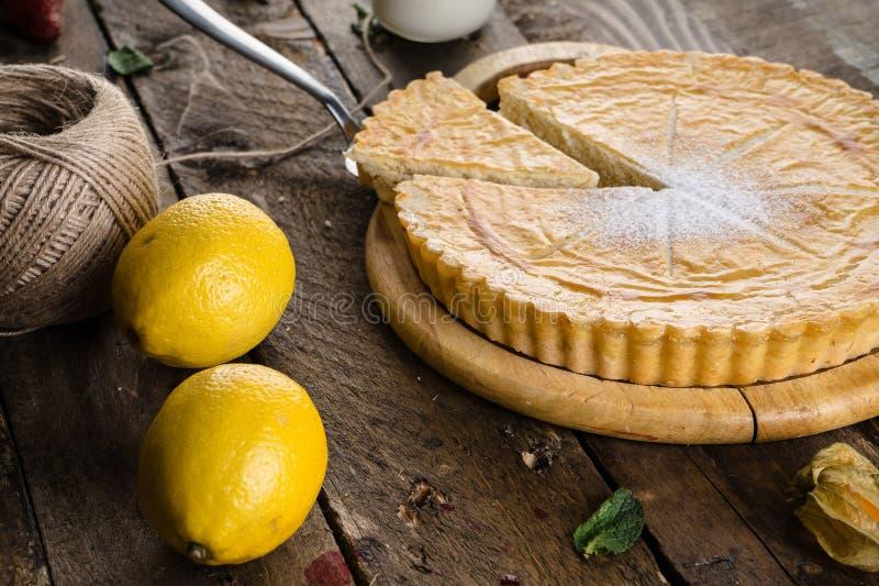 柠檬饼用柠檬 库存照片
