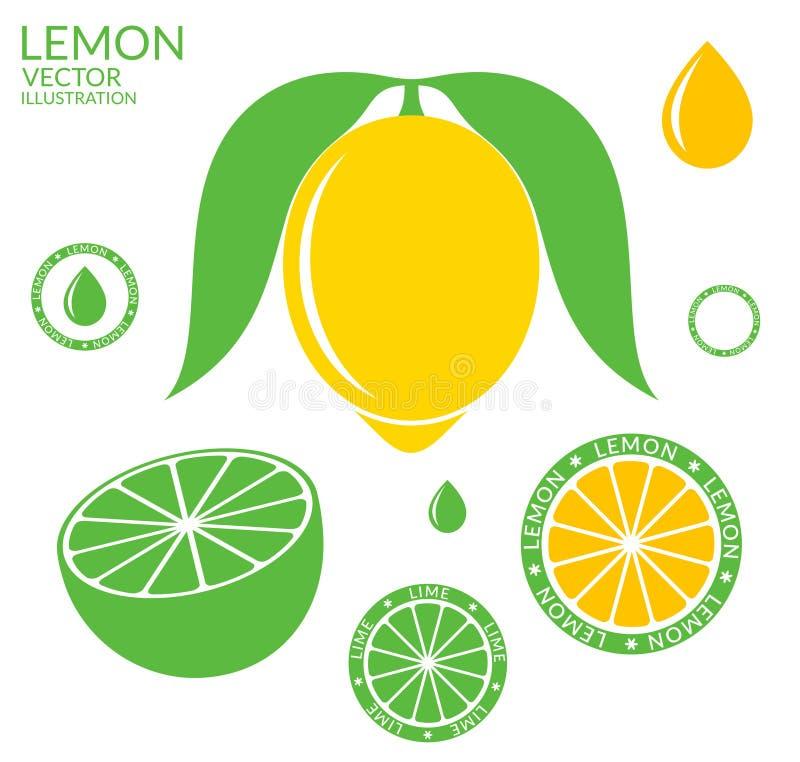 柠檬 石灰 库存例证