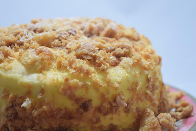 柠檬merengue蛋糕3 免版税图库摄影