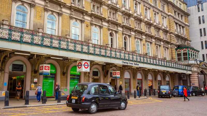 查令十字驻地在伦敦,英国 图库摄影