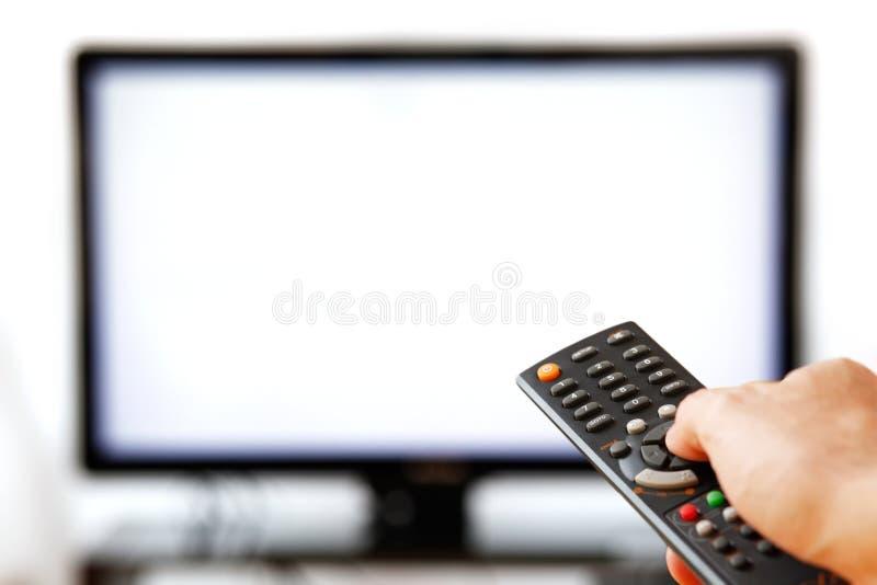 查出取消电视白色 库存图片