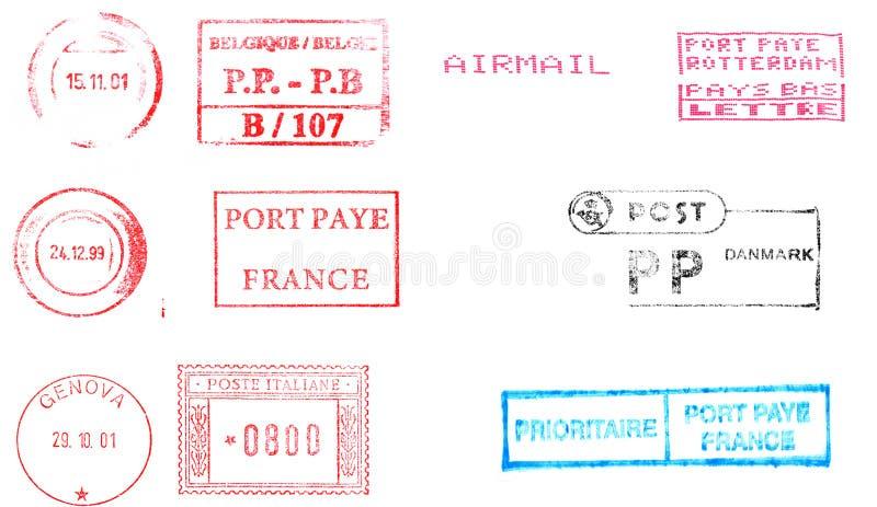 查出在空白的印花税 库存例证