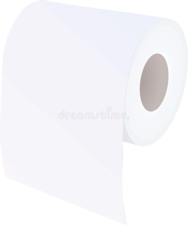 查出在纸卷洗手间白色 皇族释放例证