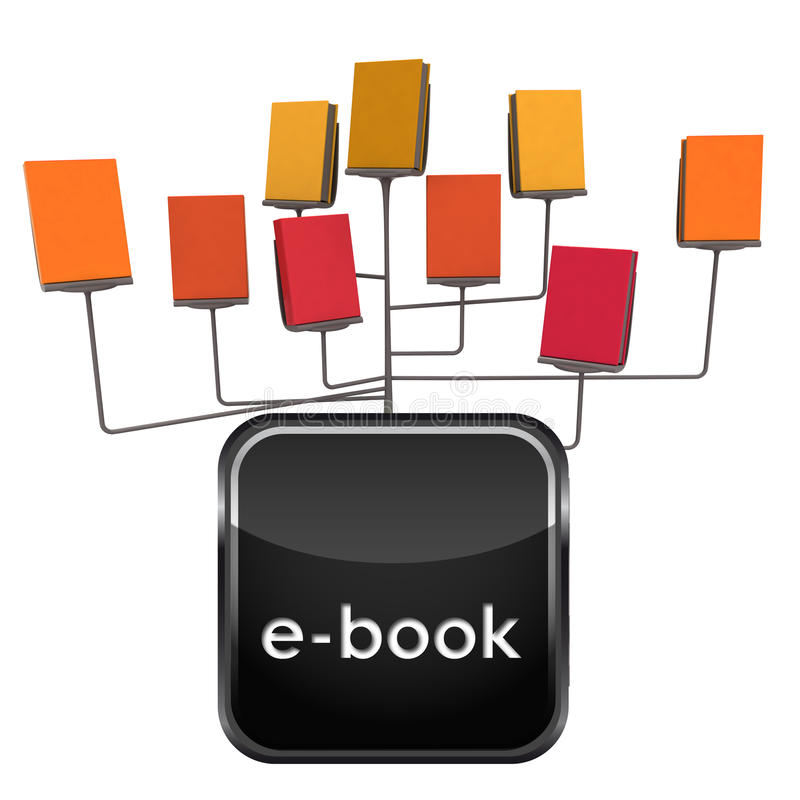 查出所有在与图标的一个电子书摊模式 皇族释放例证