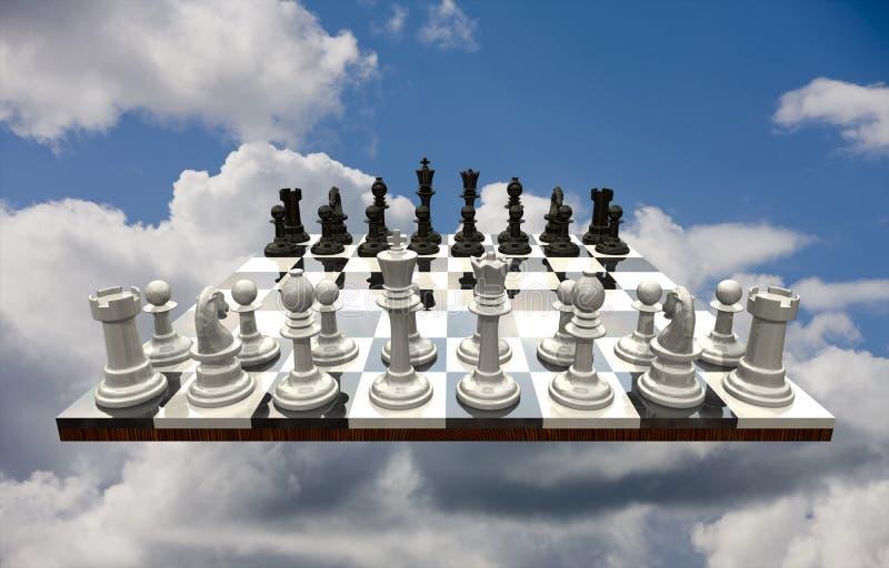 查出的一盘象棋 皇族释放例证
