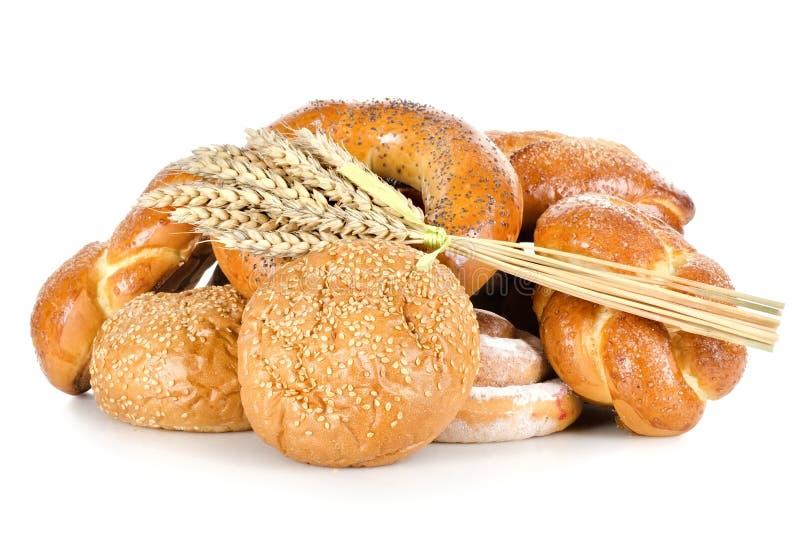查出的不同的面包的收集 图库摄影