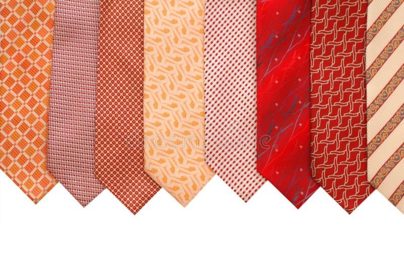查出的丝绸领带 图库摄影
