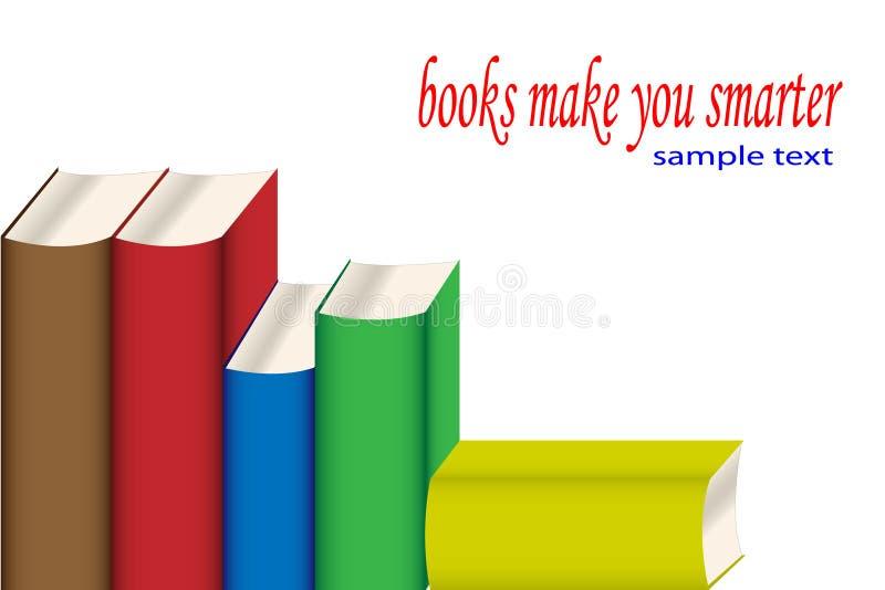 查出的书堆积白色 向量例证
