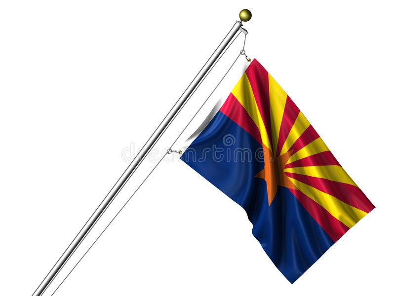 查出的亚利桑那标志 皇族释放例证