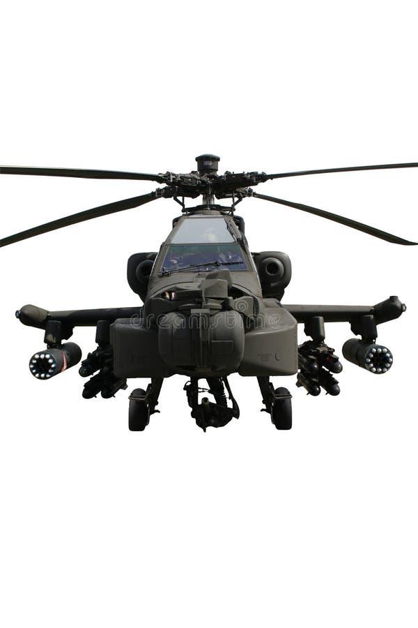 查出的亚帕基印第安人直升机 免版税库存图片