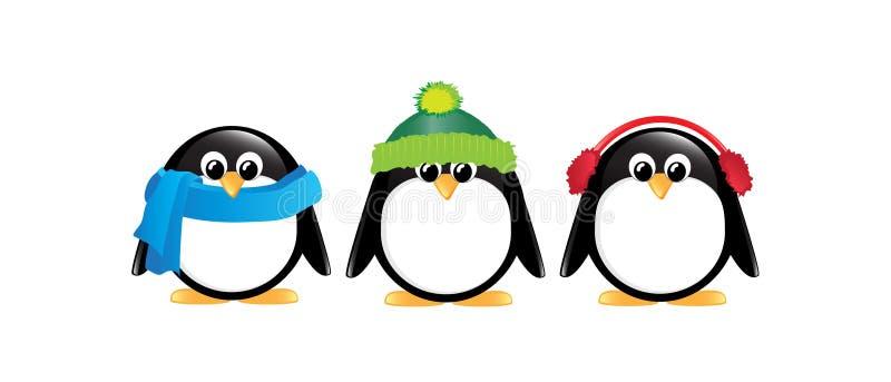 查出的企鹅 向量例证