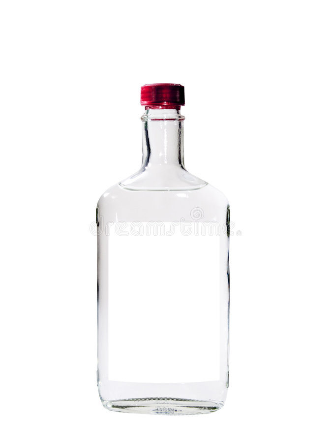 查出的伏特加酒 免版税库存照片