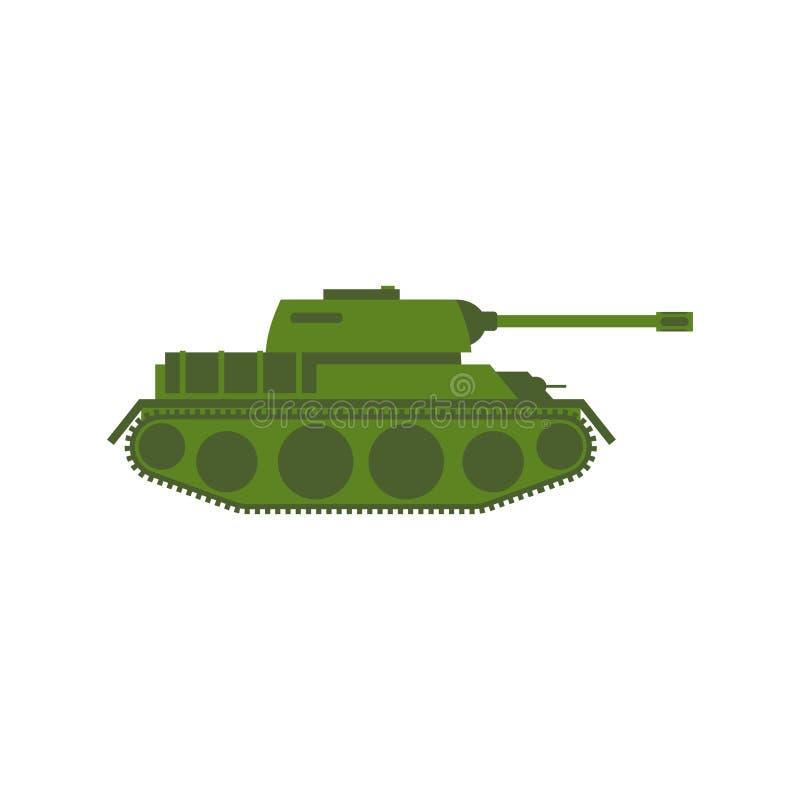 查出的军事坦克 军队在白色背景的兵器 皇族释放例证