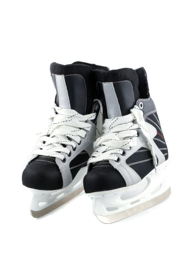 查出的冰滑冰白色 图库摄影