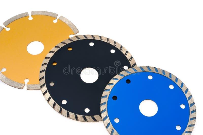 查出的刀片圆的研磨机铺磁砖丝毫 免版税图库摄影