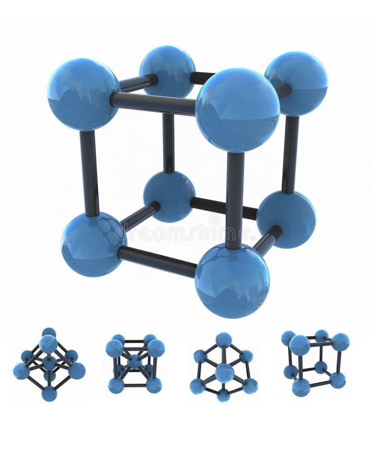 查出的分子 库存例证