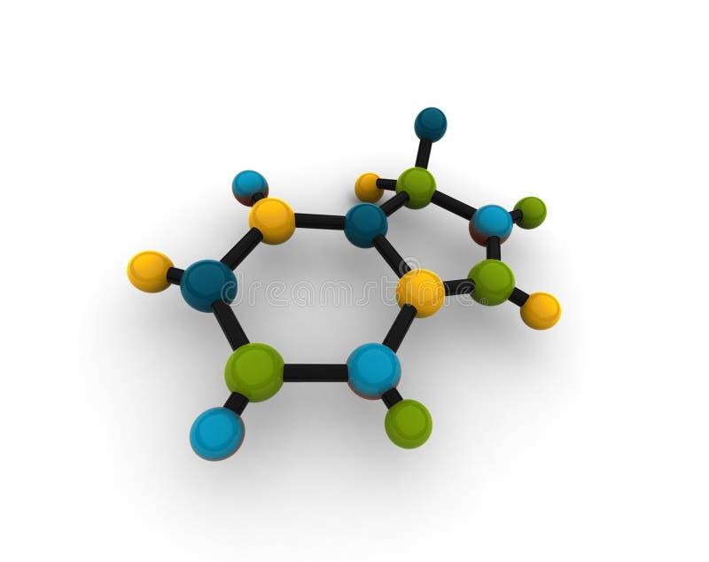 查出的分子 向量例证