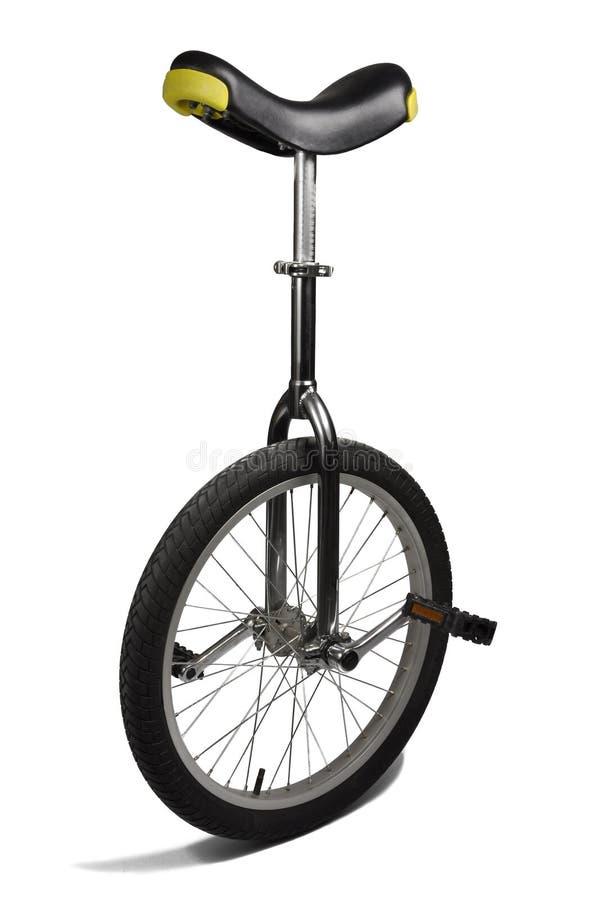查出的单轮脚踏车白色 免版税图库摄影