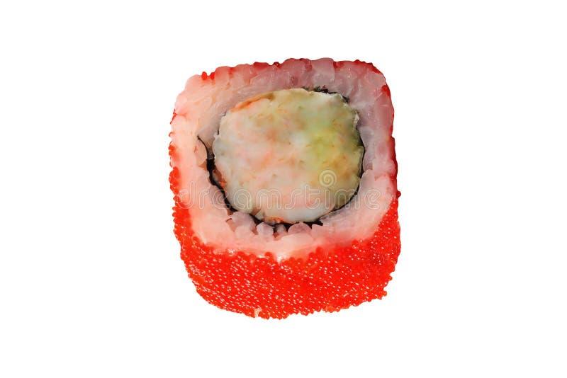 查出的卷寿司白色 库存照片