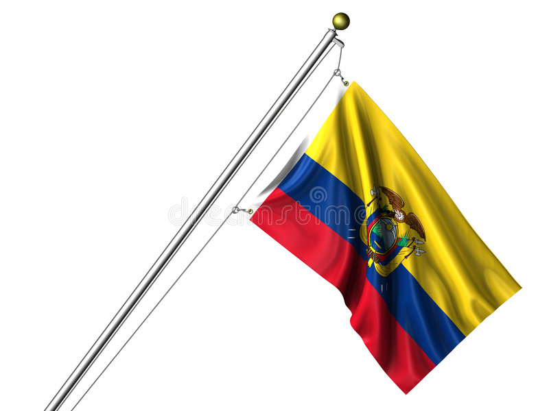 查出的厄瓜多尔标志 库存例证