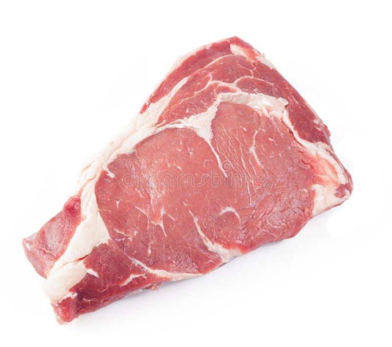 查出的原始的牛排 免版税库存图片