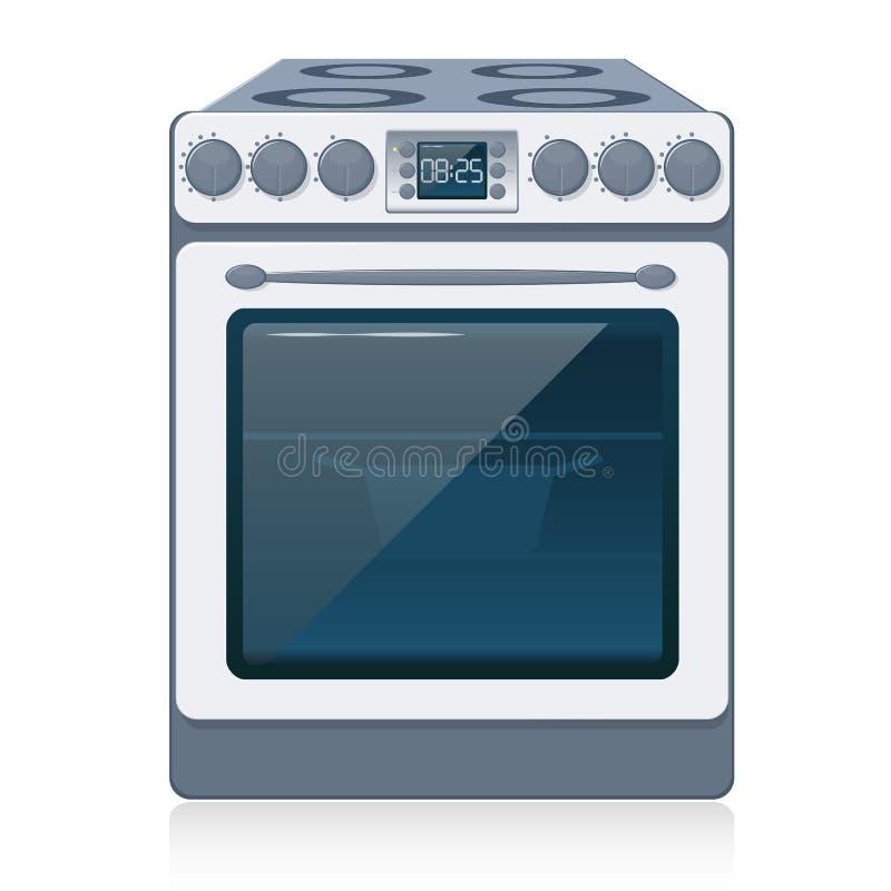 查出的厨灶向量白色 向量例证