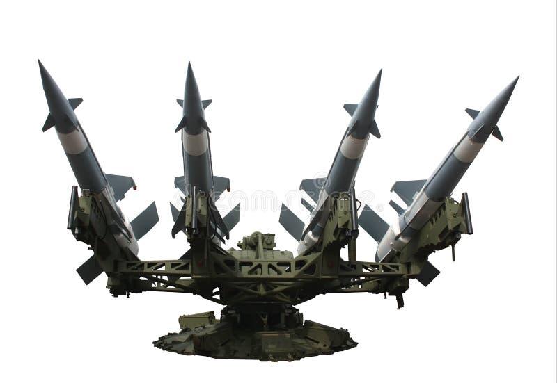 查出的发射器火箭 免版税图库摄影