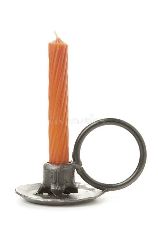 查出的古色古香的蜡烛台 库存照片