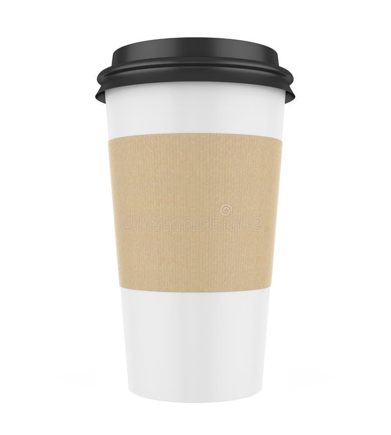 查出的咖啡杯 皇族释放例证